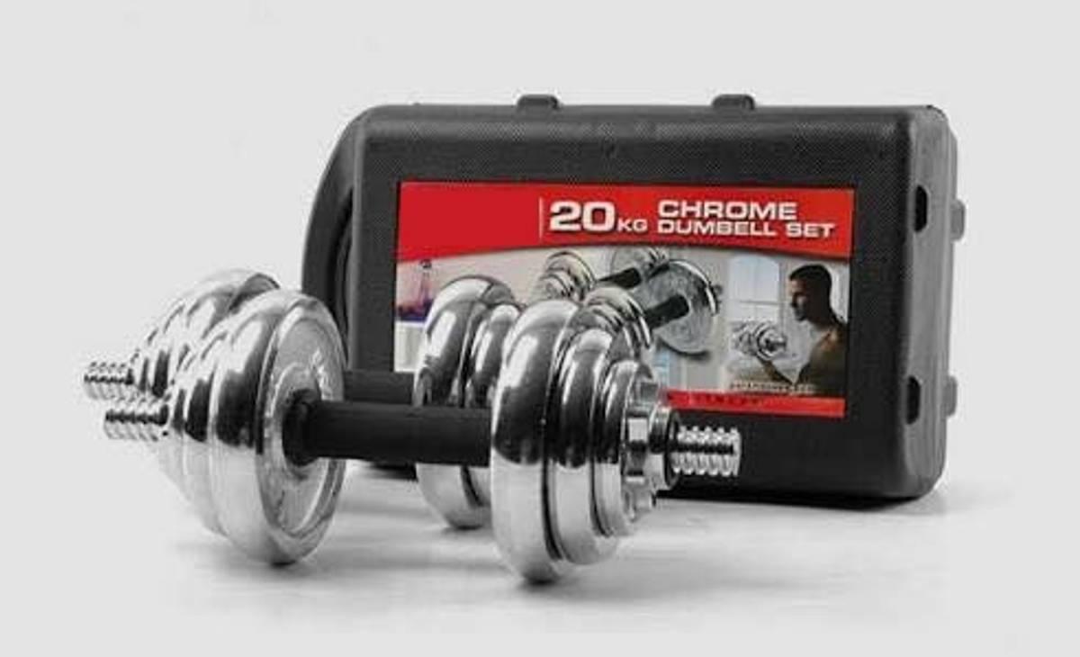 PowerGym Adjustable dumbbell set 20kg